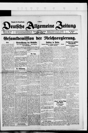 Deutsche allgemeine Zeitung on May 13, 1926