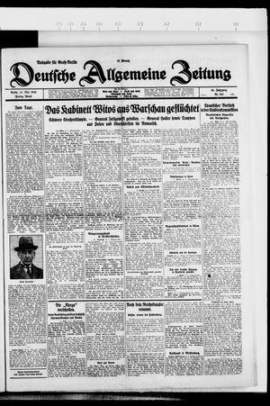Deutsche allgemeine Zeitung vom 14.05.1926