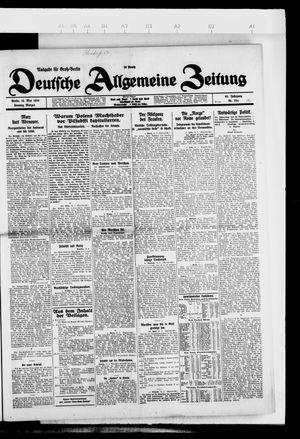 Deutsche allgemeine Zeitung vom 16.05.1926