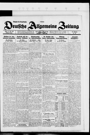 Deutsche allgemeine Zeitung vom 18.05.1926