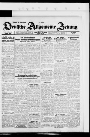 Deutsche allgemeine Zeitung vom 19.05.1926