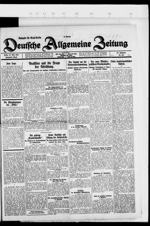 Deutsche allgemeine Zeitung vom 22.05.1926