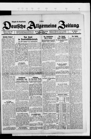Deutsche allgemeine Zeitung vom 27.05.1926