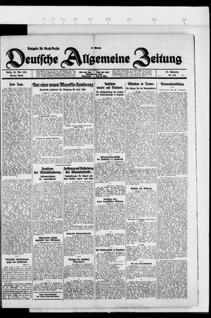 Deutsche allgemeine Zeitung vom 28.05.1926