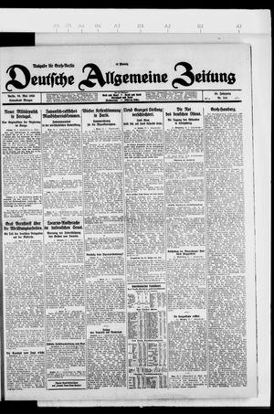 Deutsche allgemeine Zeitung vom 29.05.1926