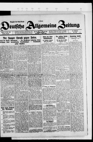Deutsche allgemeine Zeitung vom 30.05.1926