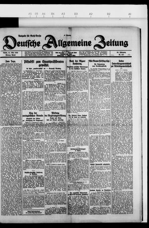 Deutsche allgemeine Zeitung vom 31.05.1926