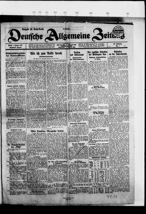 Deutsche allgemeine Zeitung vom 01.01.1927
