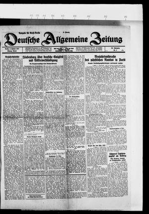 Deutsche allgemeine Zeitung vom 03.01.1927