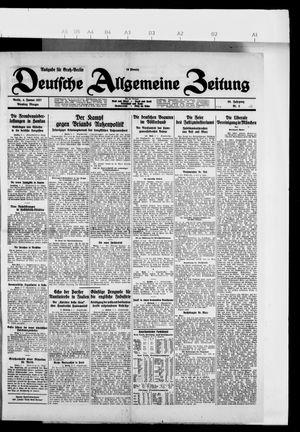 Deutsche allgemeine Zeitung vom 04.01.1927