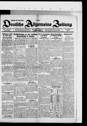 Deutsche allgemeine Zeitung vom 07.01.1927