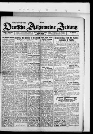 Deutsche allgemeine Zeitung vom 10.01.1927