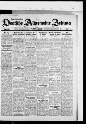 Deutsche allgemeine Zeitung vom 11.01.1927