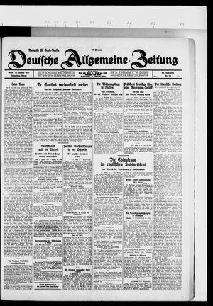 Deutsche allgemeine Zeitung vom 13.01.1927