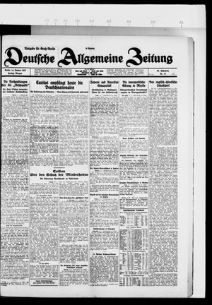 Deutsche allgemeine Zeitung vom 14.01.1927