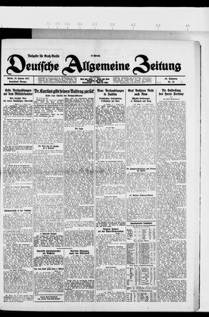 Deutsche allgemeine Zeitung vom 15.01.1927