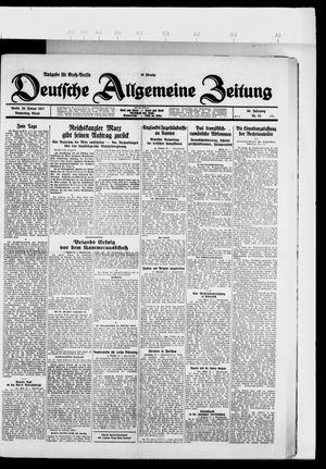 Deutsche allgemeine Zeitung vom 20.01.1927