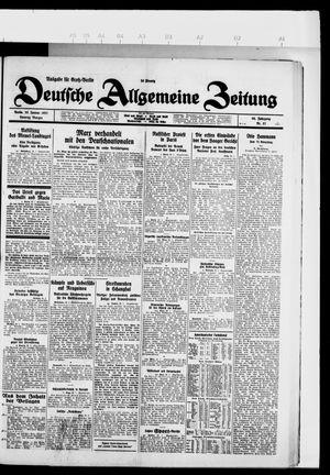 Deutsche allgemeine Zeitung on Jan 23, 1927