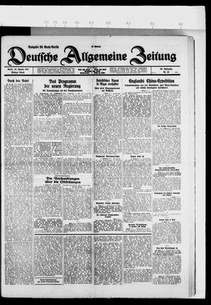 Deutsche allgemeine Zeitung vom 24.01.1927