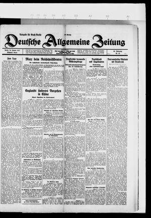 Deutsche allgemeine Zeitung vom 26.01.1927