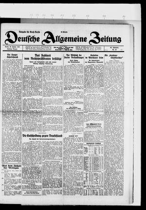 Deutsche allgemeine Zeitung on Jan 30, 1927