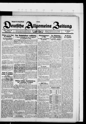 Deutsche allgemeine Zeitung vom 01.02.1927