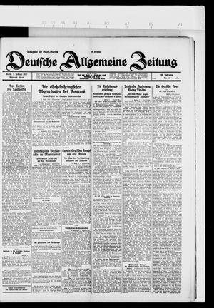 Deutsche allgemeine Zeitung vom 02.02.1927