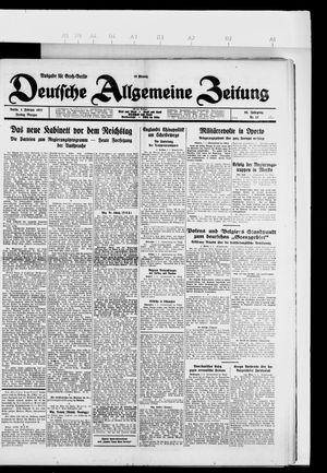 Deutsche allgemeine Zeitung on Feb 4, 1927