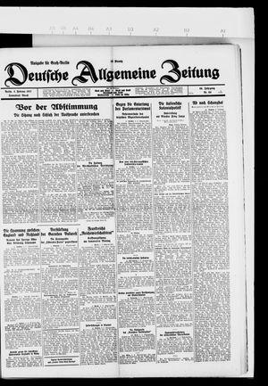 Deutsche allgemeine Zeitung vom 05.02.1927
