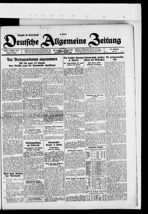 Deutsche allgemeine Zeitung vom 06.02.1927