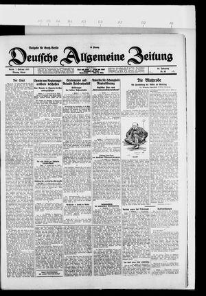 Deutsche allgemeine Zeitung vom 07.02.1927