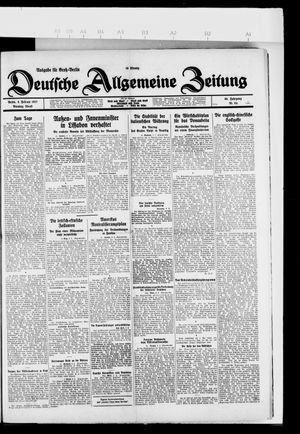 Deutsche allgemeine Zeitung vom 08.02.1927