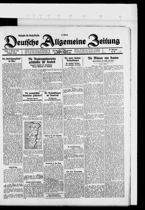 Deutsche allgemeine Zeitung vom 09.02.1927