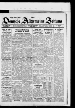 Deutsche allgemeine Zeitung vom 12.02.1927