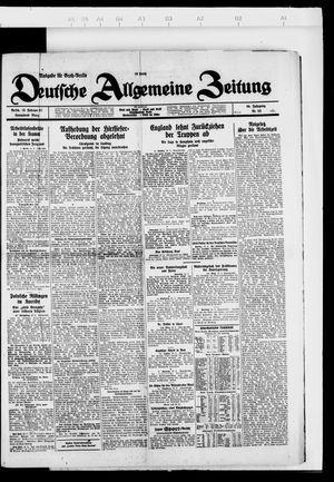 Deutsche allgemeine Zeitung vom 19.02.1927