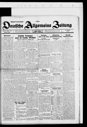 Deutsche allgemeine Zeitung vom 20.02.1927