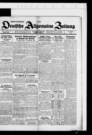 Deutsche allgemeine Zeitung vom 25.02.1927