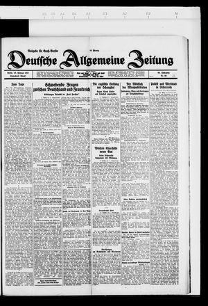 Deutsche allgemeine Zeitung vom 26.02.1927