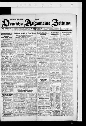 Deutsche allgemeine Zeitung vom 27.02.1927