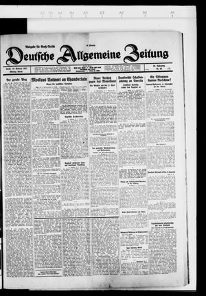 Deutsche allgemeine Zeitung vom 28.02.1927