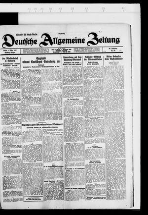 Deutsche allgemeine Zeitung vom 01.03.1927