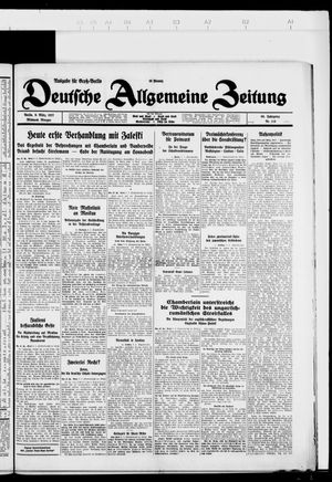 Deutsche allgemeine Zeitung vom 09.03.1927