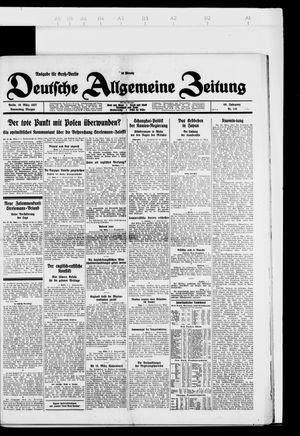 Deutsche allgemeine Zeitung vom 10.03.1927