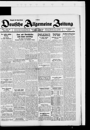 Deutsche allgemeine Zeitung vom 11.03.1927