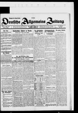 Deutsche allgemeine Zeitung vom 20.03.1927