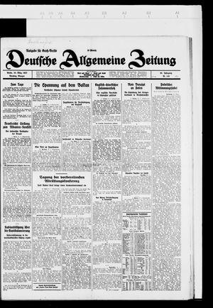 Deutsche allgemeine Zeitung vom 22.03.1927