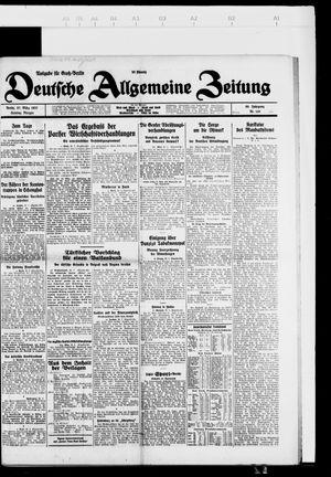 Deutsche allgemeine Zeitung vom 27.03.1927