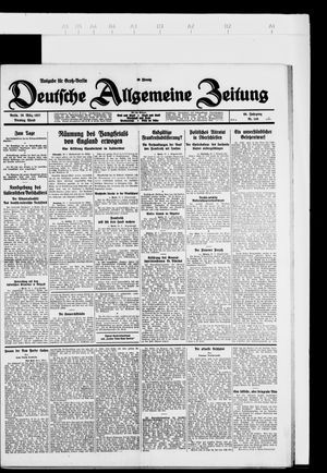 Deutsche allgemeine Zeitung vom 29.03.1927