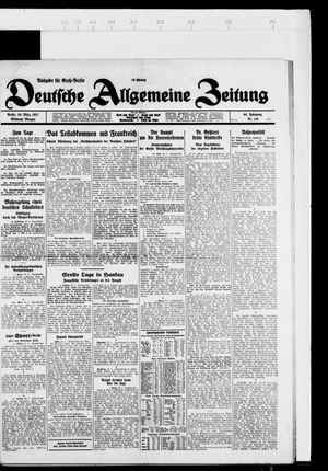 Deutsche allgemeine Zeitung vom 30.03.1927