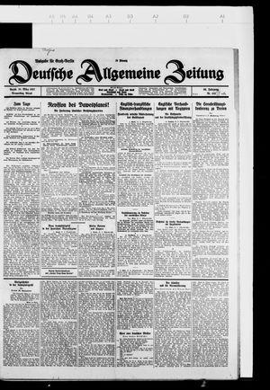 Deutsche allgemeine Zeitung vom 31.03.1927